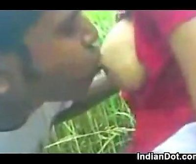 Indian Sucking Her Boyfriends Cock Outside - 3 min