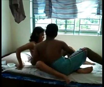 Desi college girl sex with BF in her home - 8 min