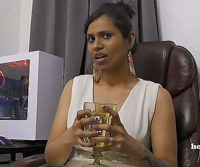 Mommys Indian friend HornyLily flirts and pees on her panties for you pov 14 min HD+