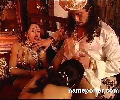 La Kamasutra--Erotic French threesome scene - 17 min