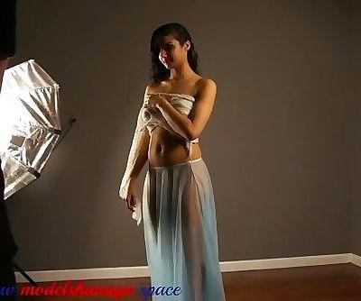 Model Shanaya in sexy transparent dress
