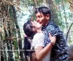 Desi GF Boobs Press n Kiss