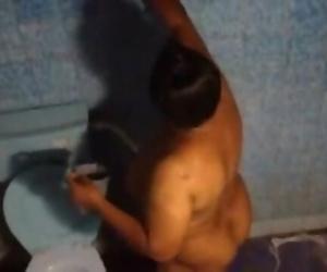 BANGLADESHI - Neighbor AUNTY bathing & washing
