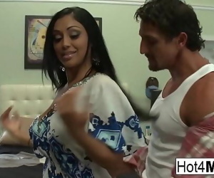 Big tit Indian MILF gets a big load on her ass 6 min 1080p
