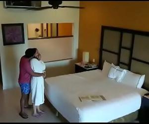 Spy camera caught husband wife having sex in hotel room 96 sec