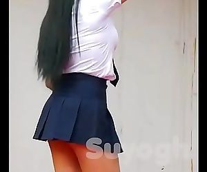 Hot Real Japanese School Girls sensual dance 2 min 720p