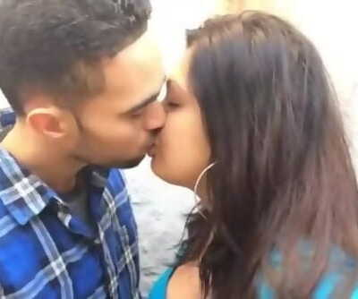 boyfriend kiss and pressing boob 1