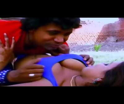 Hottest bhojpuri song11 - Saniya Rao boobs pressed hard & kissed many times