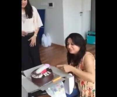 Desi slut girls celebrating birthday