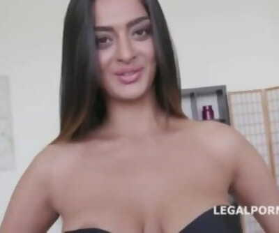 Desi Indian slut Latoya devi double vaginal dap gangbang fuck