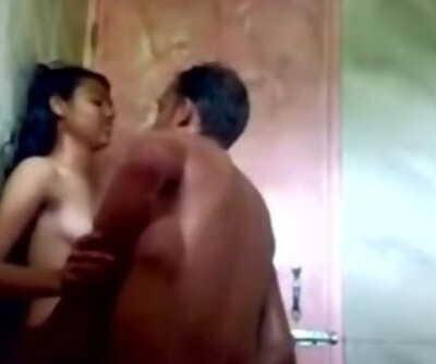 Bangla,Desi Girl Fucked with BF in Bathroom