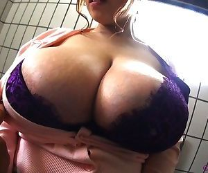 Japanese amateur with monster breasts posing in lingerie - part 4874