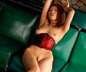 Asian idol jun kusanagi in red corset showing body - part 3856