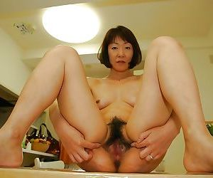 Asian MILF Yukiko Ishii gets her hairy slit vibed and boned-up