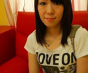 Asian teen Natsumi Sakaguchi getting naked and playing with a vibrator