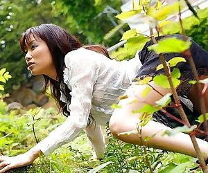 Asian yua aida strips outdoors shows her nice tits - part 2483