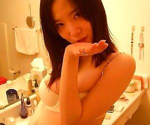 Naughty korean cutie stripping naked in the bathroom - part 1801