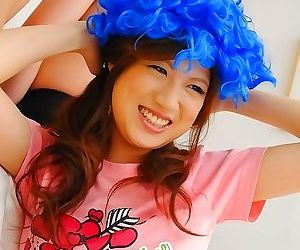 Shirosaki karin asian with silly outfits on head sucks phallus - part 3094