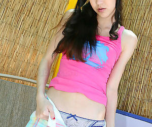 A horny teen want to masturbate on the bamboo - part 3191