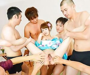 Japanese karin aizawa in gang bang sex and cumshot - part 389
