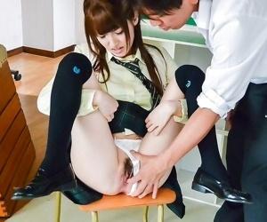 Asian schoolgirl karin aizawa fucks in a classroom - part 279