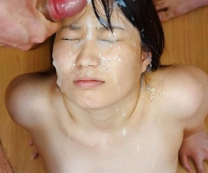 Asian girls getting massive bukkake facials - part 1416