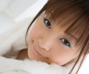 Adorable Japanese girl Misa Kikouden shows long nips while changing clothes