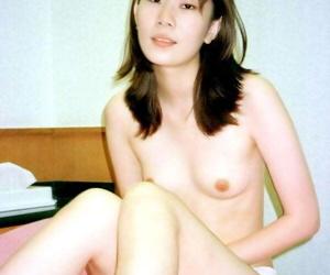 Slender Japanese girl sucks a cock in underwear before showing her snatch