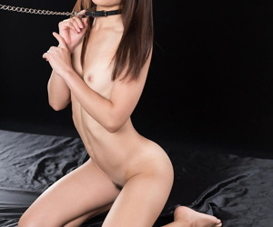 Tiny Japanese sex slave is forced to suck off two cocks in the nude