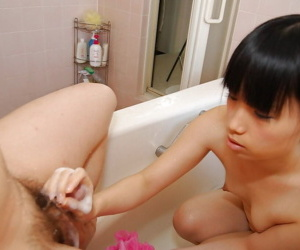 Chiharu Moriya gives a sensual blowjob and gets her hairy twat drilled tough