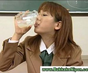 Real amateur japanese babe drinks..