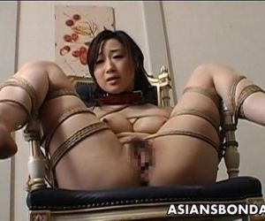 Toy fucked tied up and pussy..