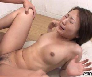 Asian slut has a dick full of her..