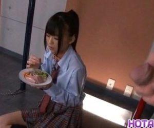 Chika Ishihara licks hard cock -..