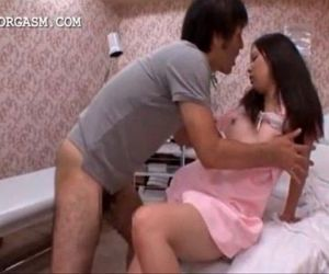 Lustful japanese taking horny..
