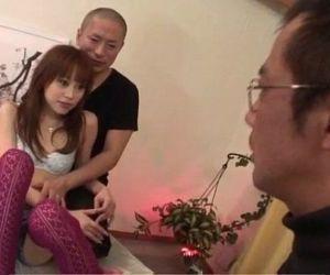 Slim Miina Yoshihara feels needy..