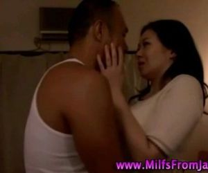 Hot asian milf slut sucking cock..