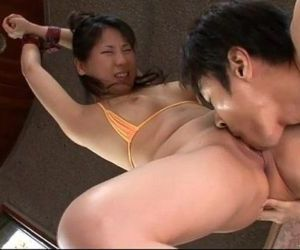 Emiri Takeuchi in cuffs has her..