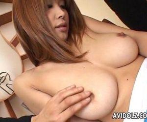 Big tits Asian babe totally felt..