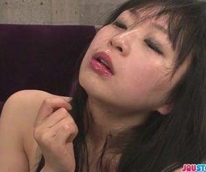 Nozomi Hazuki in stockings gives..