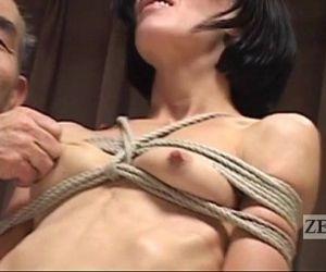 CMNF Subtitled Japanese nose BDSM..