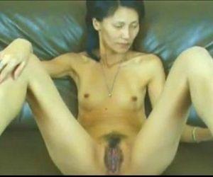 Mature Asian Massaging Pussy -..