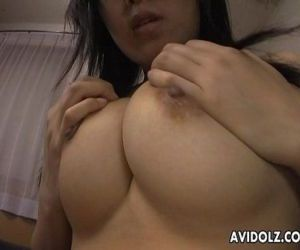 Sly and shy Asian babe getting..