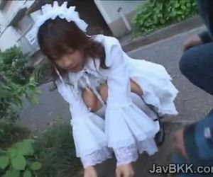Innocent Japanese teen maid..
