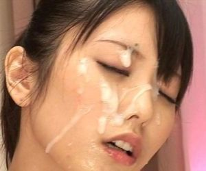 Japanese girls bukkake facial..