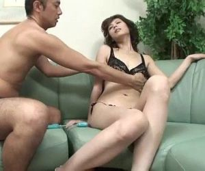 While Natsumi pussy is toyed she..