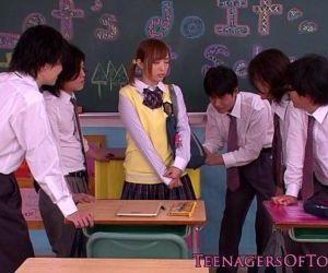 Innocent asian schoolgirl in..
