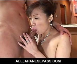 Japanese MiLF in a red evening..