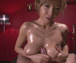 Oiled Up Teen Sumire Matsu Sucks..