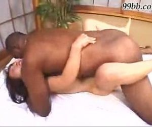 Asian girl fucks a black dude -..